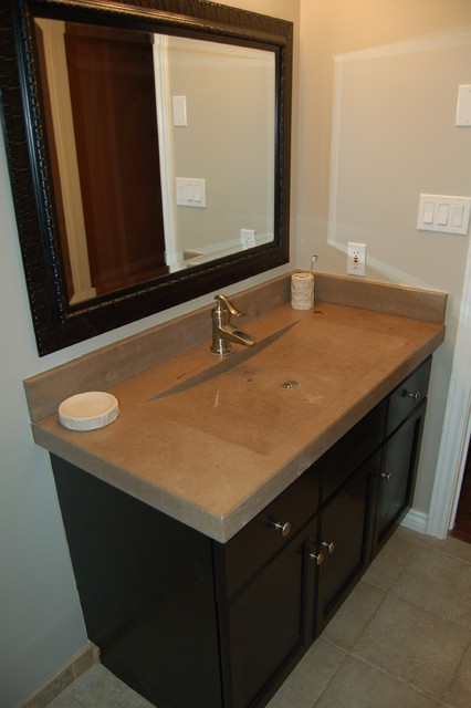 Solid Shower Base and Solid Sink contemporary-bathroom