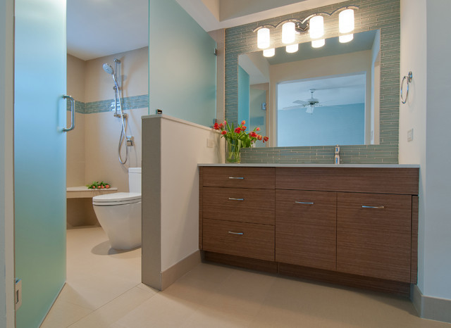 Solosy bathroom contemporary bathroom miami by for Brown and turquoise bathroom ideas
