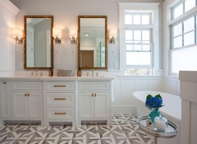 Soludden stile marinaro stanza da bagno san diego di flagg