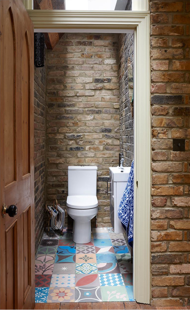 Example of a mountain style bathroom design in London