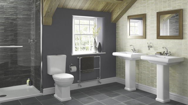 Bathroom Design B&Q somerville bathroom suite - contemporary - bathroom - hampshire
