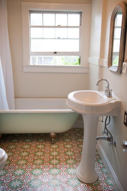 Sonoma County Vintage-Inspired Bathroom - Traditional - Bathroom ...