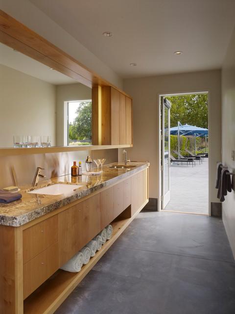 Sonoma Pool House Modern Bathroom San Francisco By