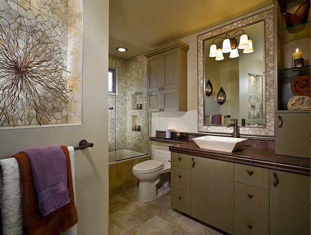 Soothing Earth Tone Bathroom