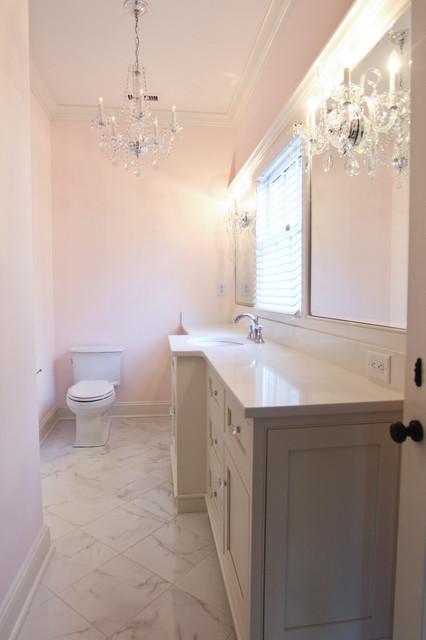 Sophisticated Girlie Bathroom Eclectic Bathroom