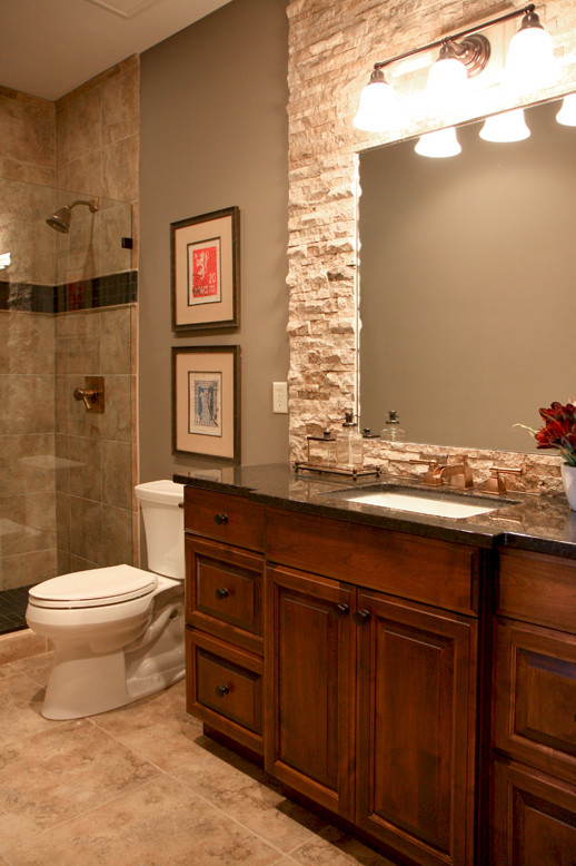 Sophisticated Mountain Home - Traditional - Bathroom ...