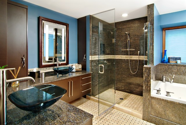 Soterra Natural Stone Thin Panels traditional-bathroom