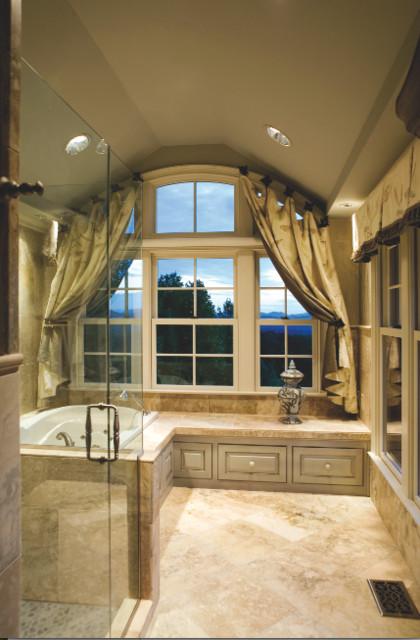 North carolina mountain home traditional bathroom for Bathroom interior design charlotte nc