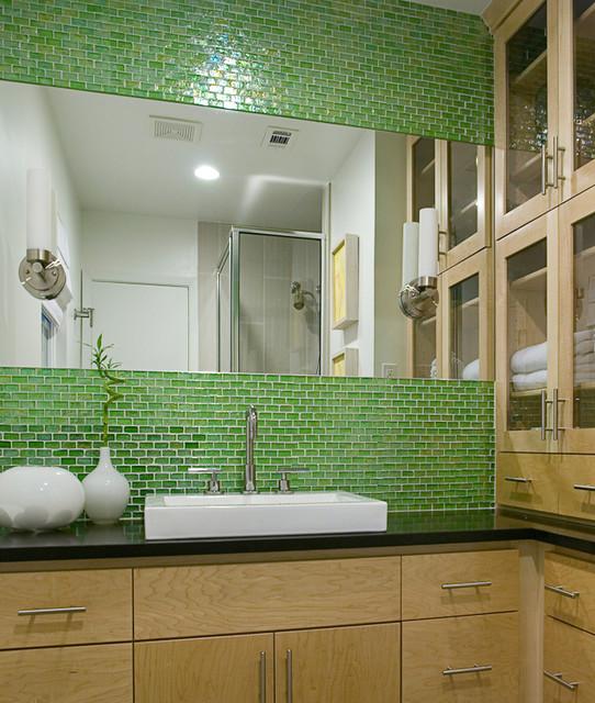 South Congress Residence contemporary-bathroom