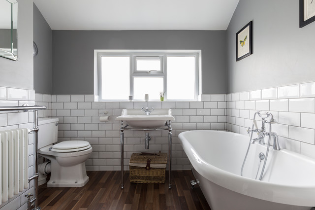 South east london transitional bathroom london by for Bathroom builders east london