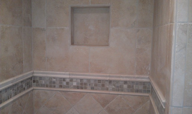 Replacing shower floor tile
