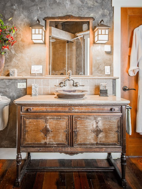 South Salem Whole House Renovation & Addition rustic-bathroom