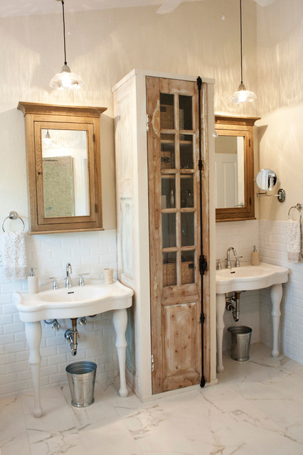 South Tampa Home - Shabby-chic Style - Bathroom - Tampa - by The Blue Moon Trading Company