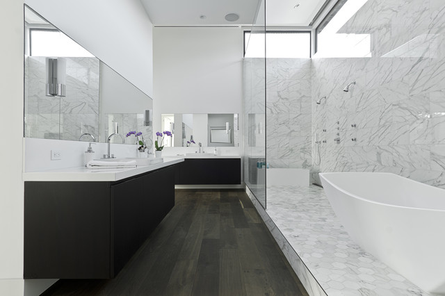 modern bathroom by C O N T E N T Architecture