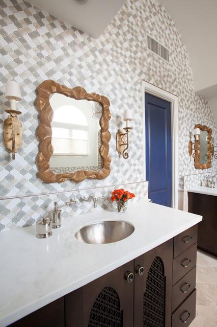 Modern Moroccan Bathroom Design southampton moroccan - mediterranean - bathroom - houston -