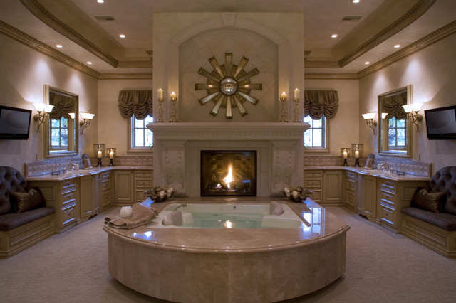southern highlands custom mediterranean bathroom - Luxury Master Bathroom