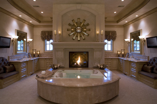 Fireplace Luxury Bath Total Romance