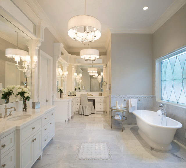 Southern Traditional Transitional Bathroom Houston