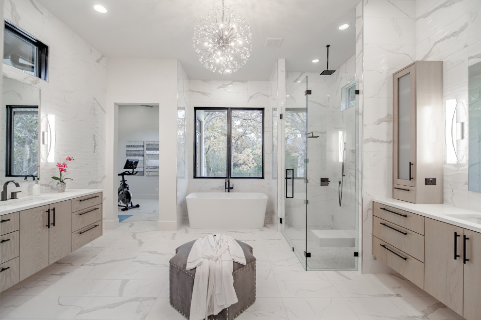 Southlake Modern Hill Country Master Bath - Transitional ...
