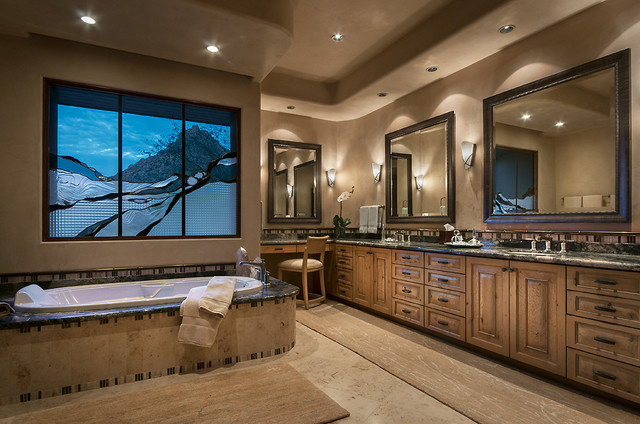 Southwest Contemporary Southwestern Bathroom Phoenix