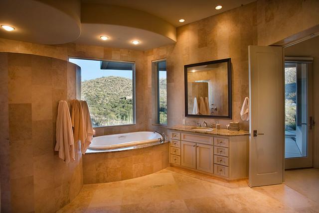 Southwest contemporary contemporary bathroom phoenix for Southwest bathroom designs