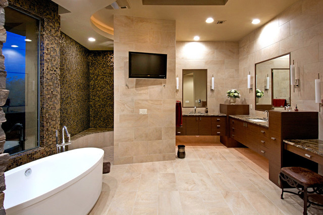 Southwest Contemporary Southwestern Bathroom Other By Soloway Designs Inc Architecture