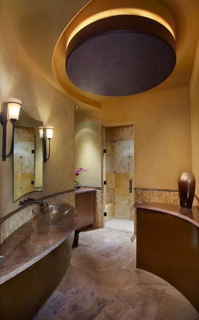 Southwest Contemporary traditional-bathroom