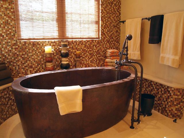 Southwest territorial remodel traditional bathroom for Southwest bathroom designs