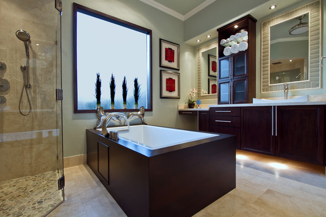 spa bath contemporary bathroom houston by