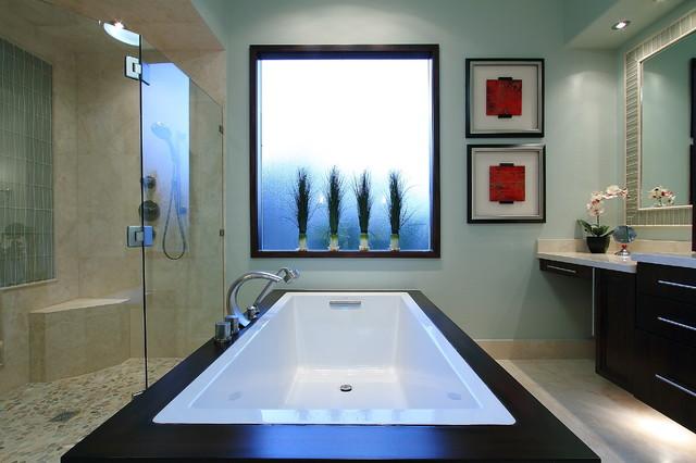 Spa bath contemporary bathroom houston by