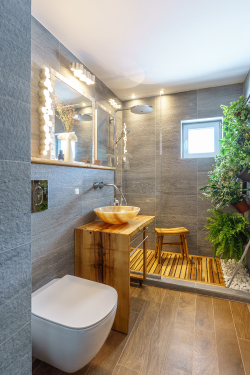 vertical garden in shower