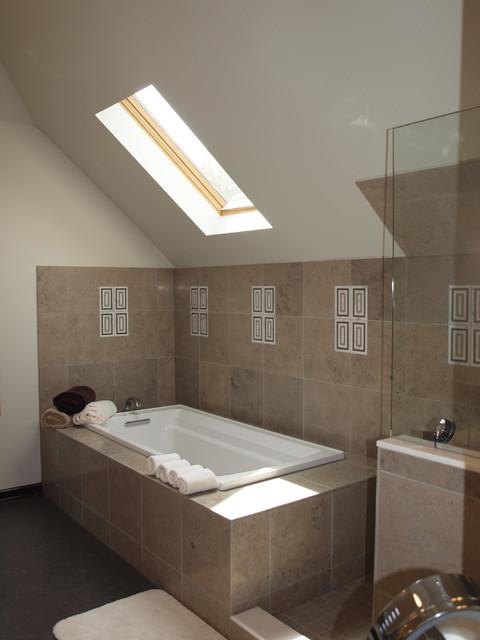 Spa inspired bathroom renovation contemporary bathroom for Spa inspired bathroom designs