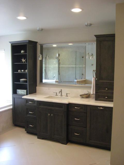 Spa inspired master bath traditional bathroom los for Spa inspired bathroom designs