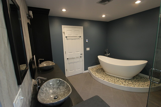 Spa Inspired Master Bath Contemporary Bathroom Boston By Kitchen Center Of Framingham