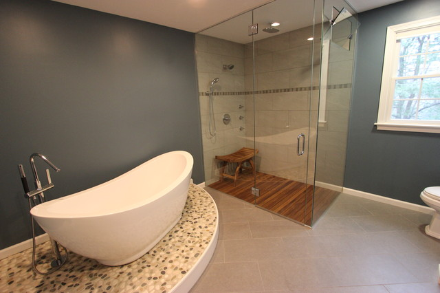 Spa Inspired Master Bath Eclectic Bathroom Boston By Kitchen Center Of Framingham