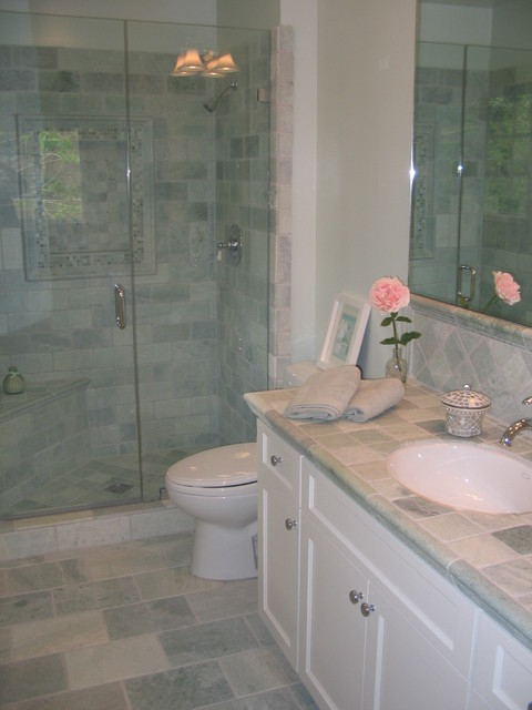 Marble Guest Bathroom Ideas : Spa like guest bath renovation aqua and white