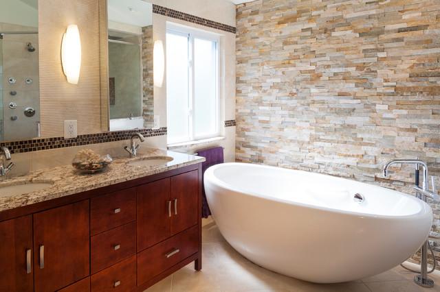 Spa like master bath contemporary bathroom baltimore for Bath remodel baltimore