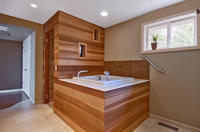 Spa master bath contemporary-bathroom