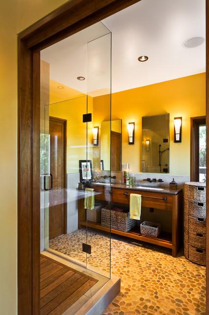 Spa Residence Asian Bathroom Santa Barbara By Josh Blumer Ab Design Studio Inc