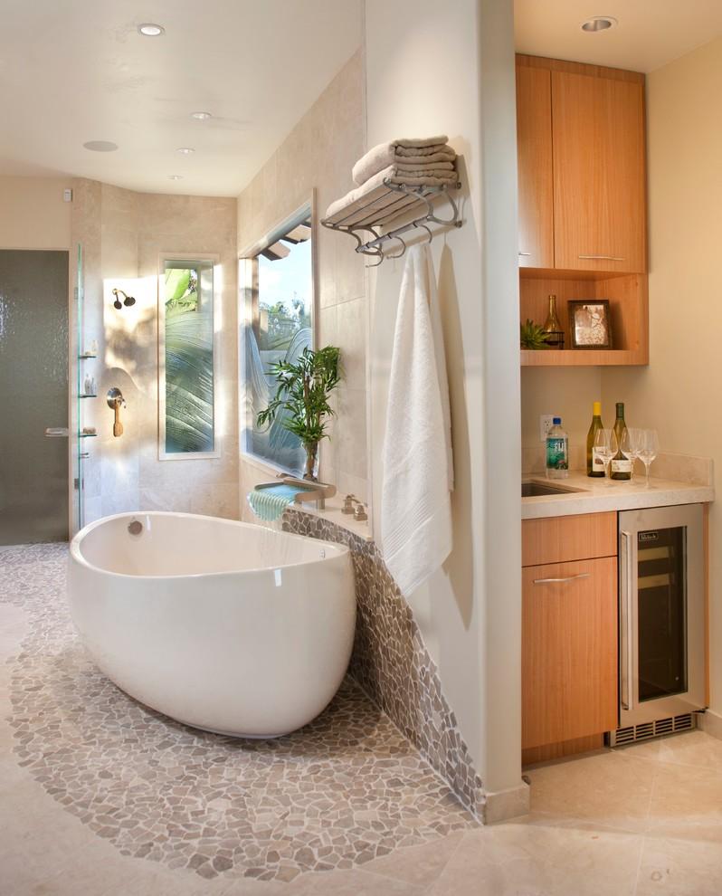 Spa Retreat in Rancho Santa Fe - Contemporary - Bathroom ...