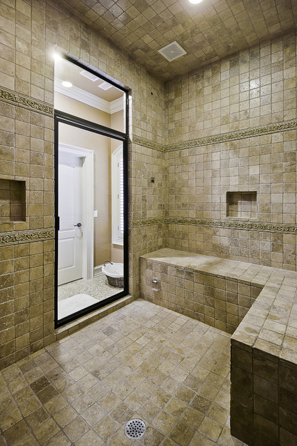 Spa Shower With Steam Bath Traditional Bathroom