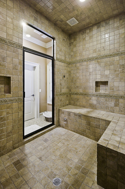 Shower bench configuration for Bathroom configurations