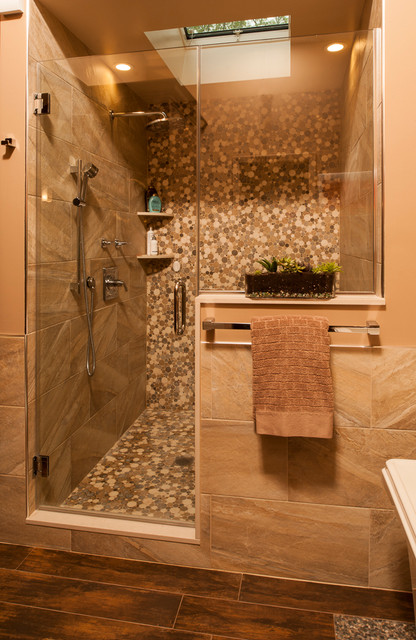 Spa zen bathroom design asian bathroom new york by for Bathroom decor earth tones