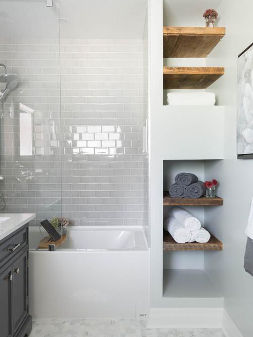 Space Saver Scandinavian Bathroom Chicago By Morgan Mcmurphy Renovation Design Houzz