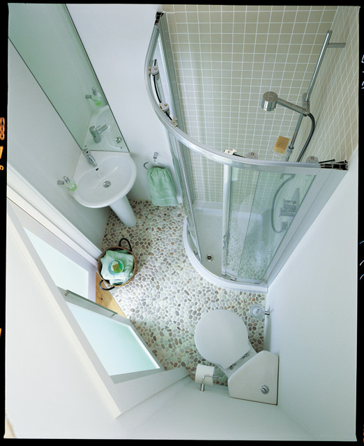 Space saving shower room for Small wc room design
