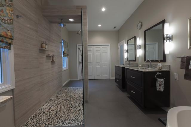 spacious stylish master bath an award winning design contemporary bathroom bridgeport. Black Bedroom Furniture Sets. Home Design Ideas