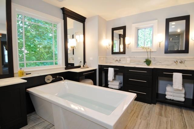 Spacious Serene Spa modern-bathroom