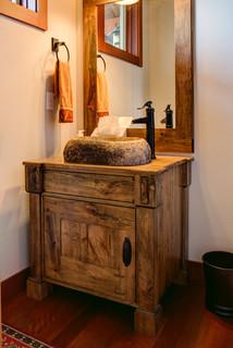 Spalted Maple Vanity Cabinet - Craftsman - Bathroom ...