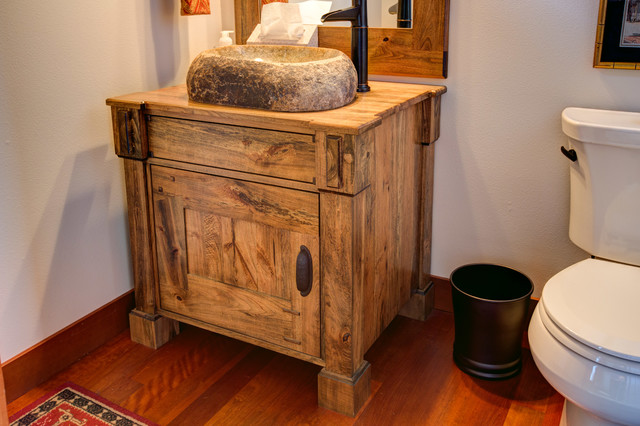Spalted Maple Vanity Cabinet Craftsman Bathroom
