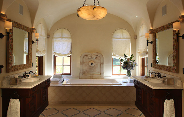 Spanish colonial hacienda carmel california for Spanish colonial bathroom design